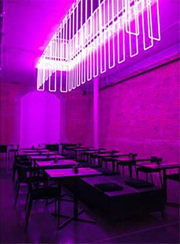 neon interior design restaurant. Black Bedroom Furniture Sets. Home Design Ideas